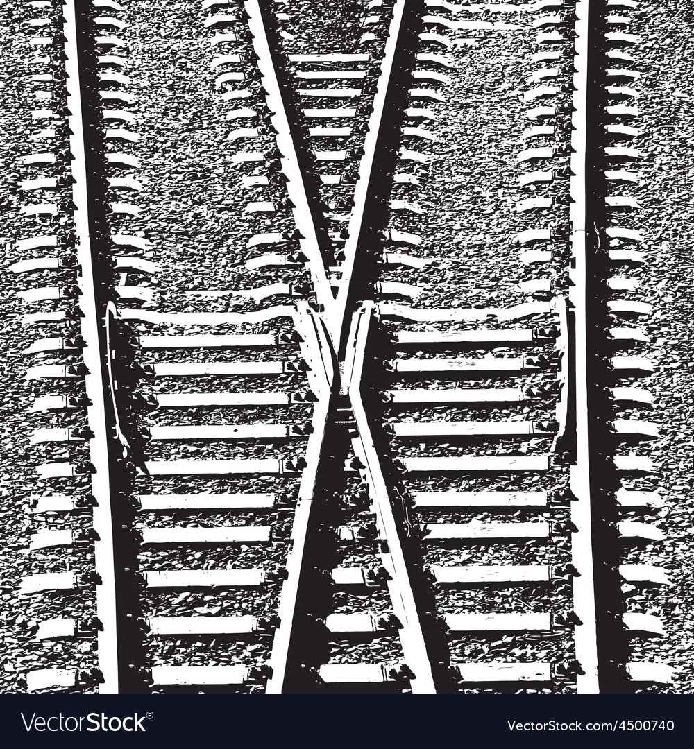 Railway tracks and switch vector | Price: 1 Credit (USD $1)