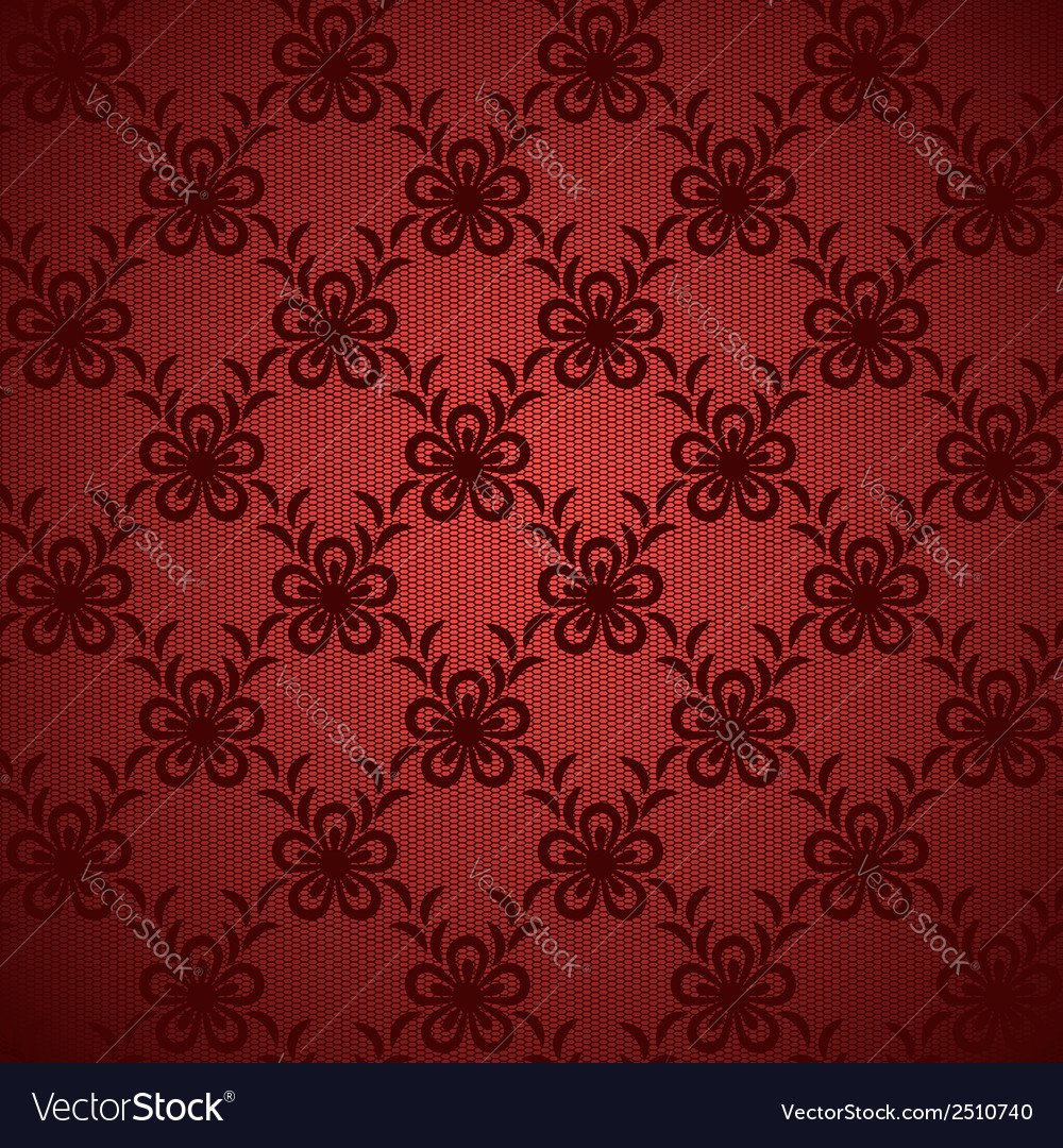Red floral lacy background vector | Price: 1 Credit (USD $1)