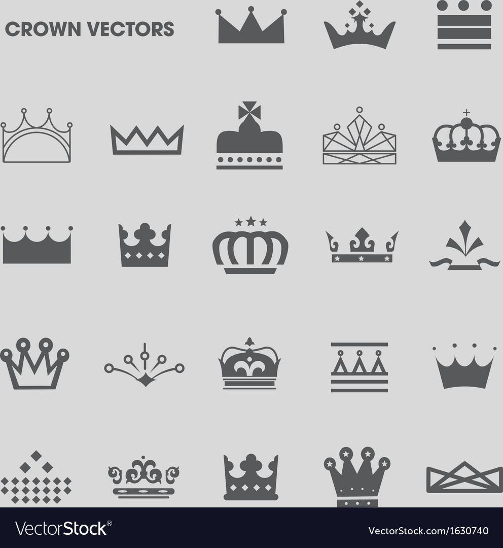 Set of crowns and tiaras vector | Price: 1 Credit (USD $1)