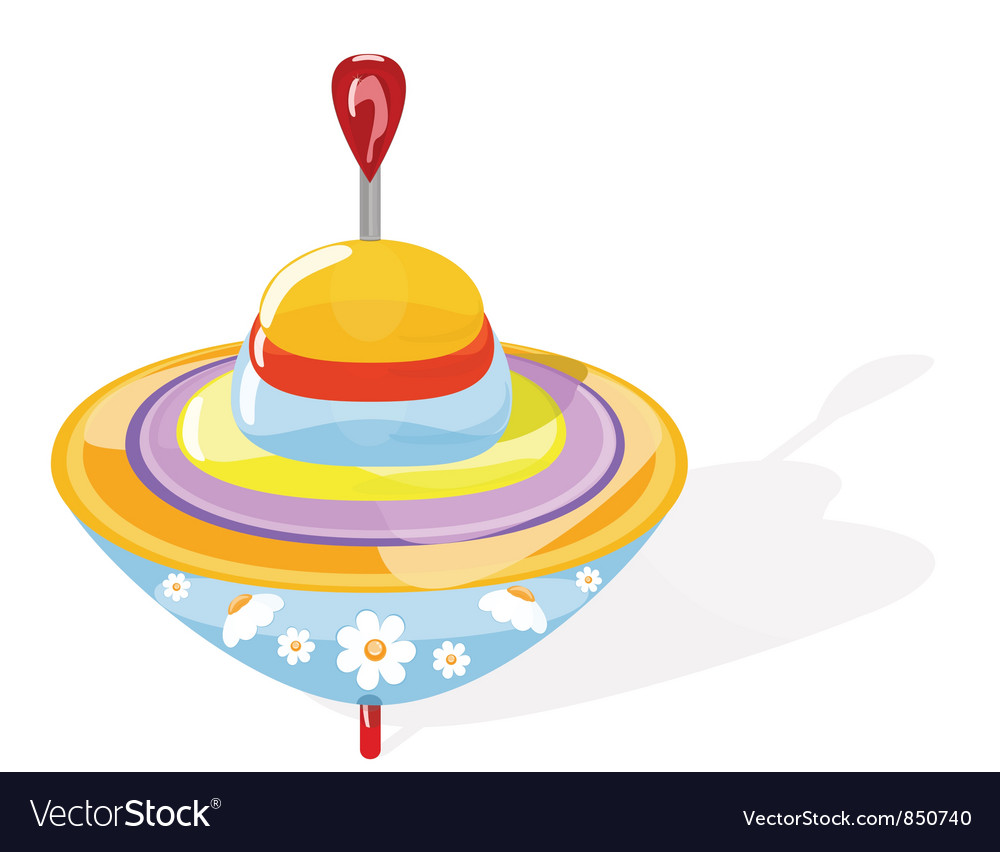 Spinning top vector | Price: 1 Credit (USD $1)