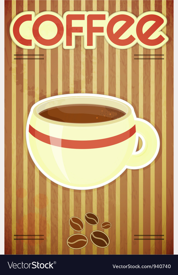 Template menu of coffee vector | Price: 1 Credit (USD $1)