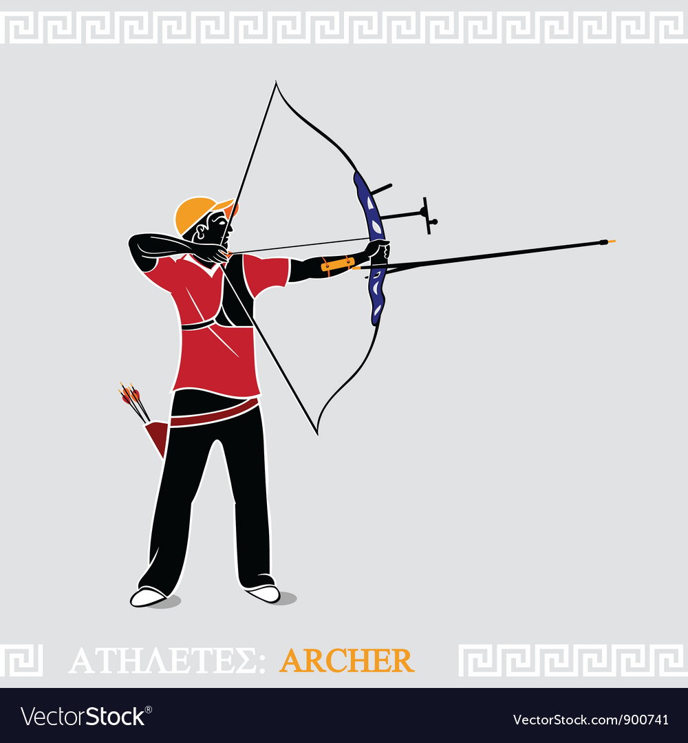 Athlete archer vector | Price: 3 Credit (USD $3)