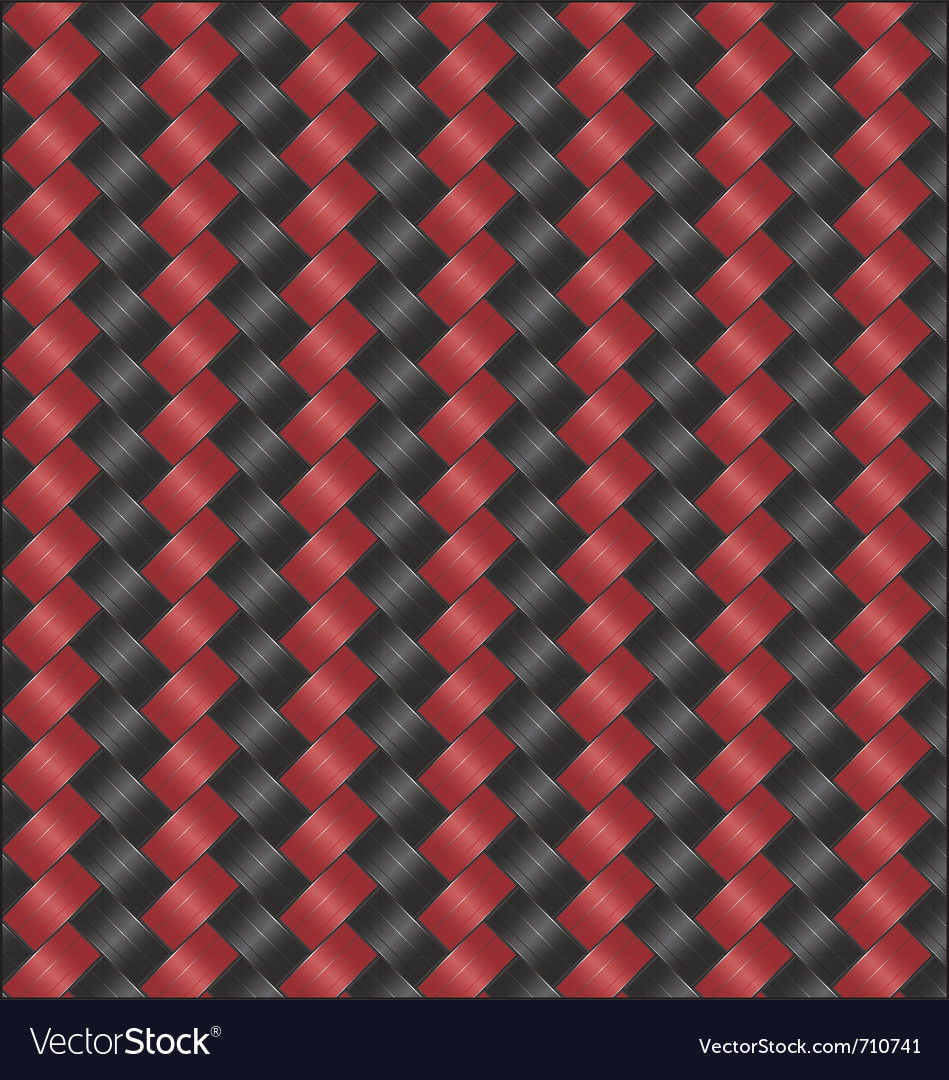 Carbon fiber black red vector | Price: 1 Credit (USD $1)