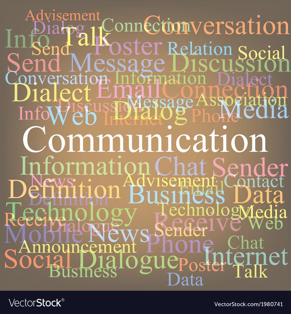 Communication vector | Price: 1 Credit (USD $1)