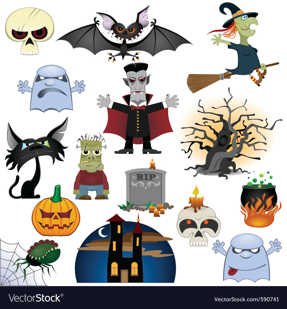 Halloween icons set vector | Price: 1 Credit (USD $1)