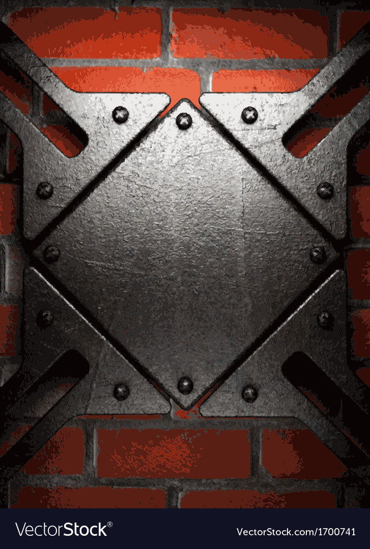 Metal and brick background vector | Price: 1 Credit (USD $1)