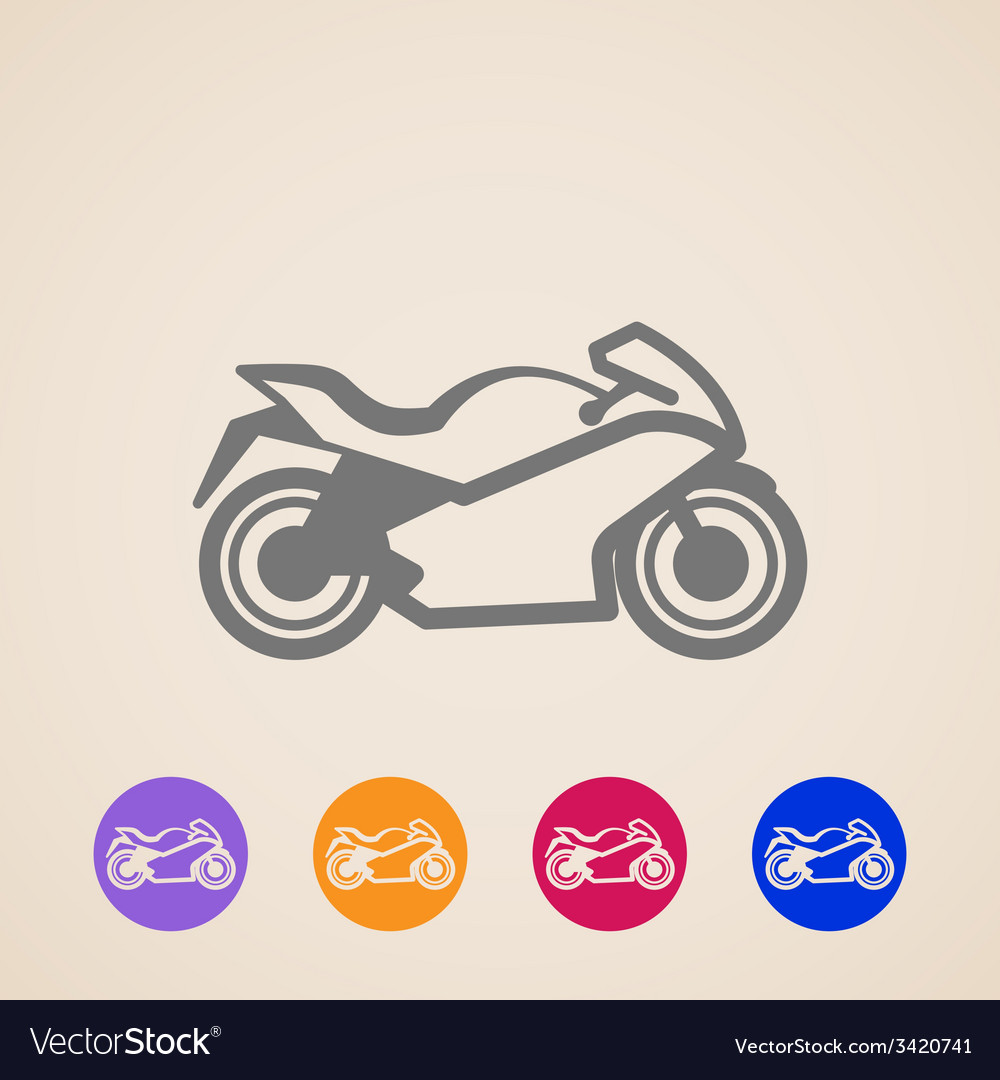 Motorcycle icons vector | Price: 1 Credit (USD $1)