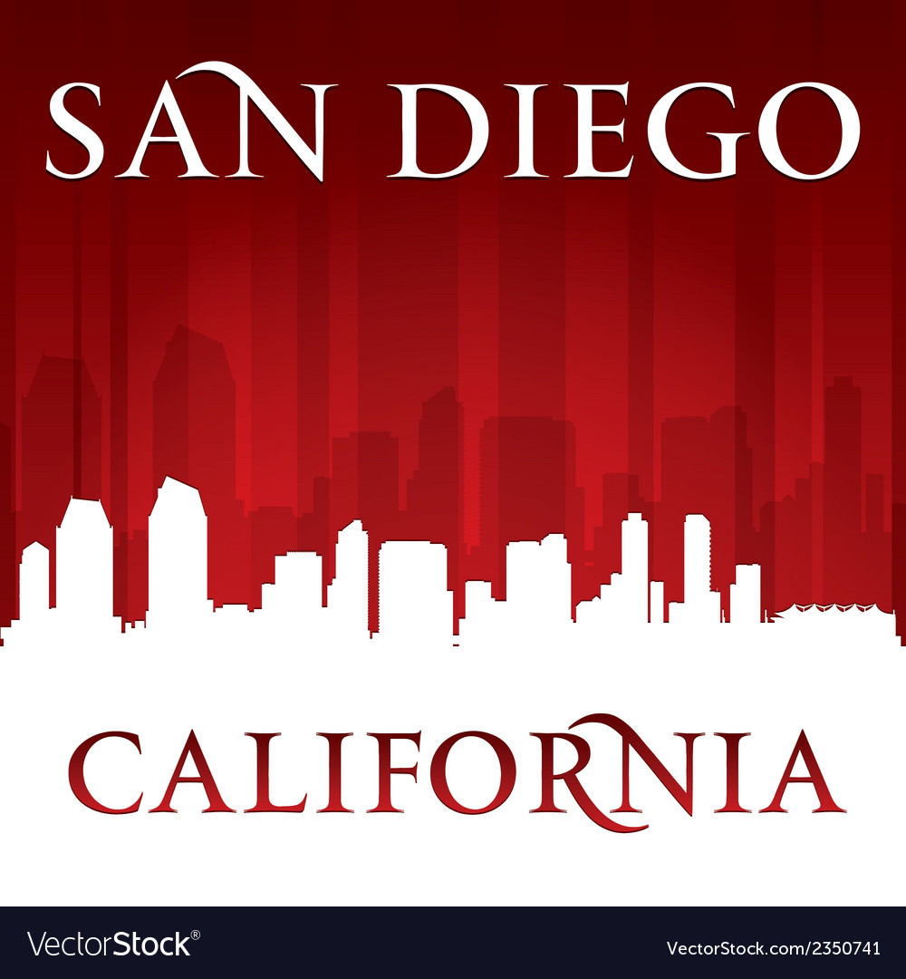 San diego california city skyline silhouette vector | Price: 1 Credit (USD $1)