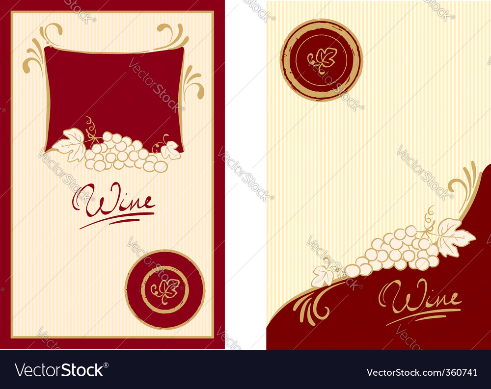 Wine labels with swirls vector | Price: 1 Credit (USD $1)