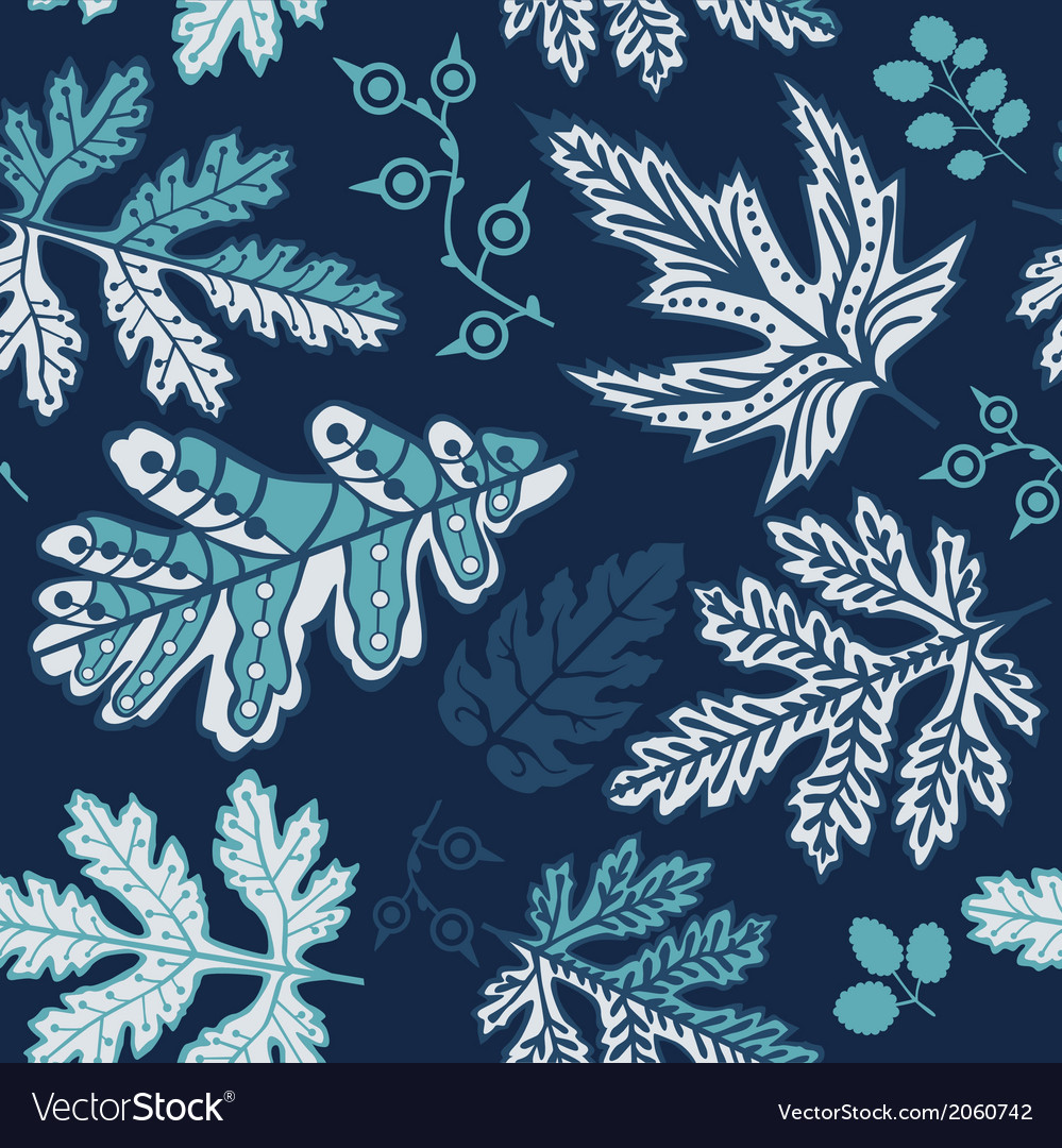 A seamless leaf pattern vector   Price: 1 Credit (USD $1)