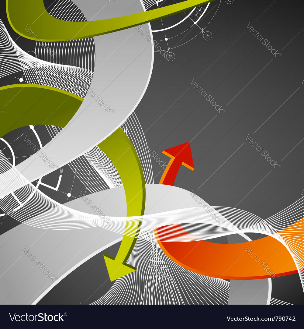 Abstract arrows background vector | Price: 1 Credit (USD $1)