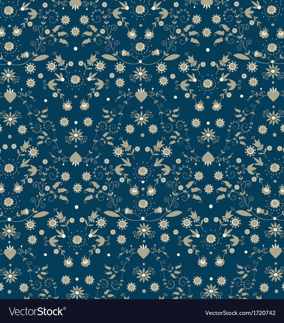 Background folk flower -three vector | Price: 1 Credit (USD $1)