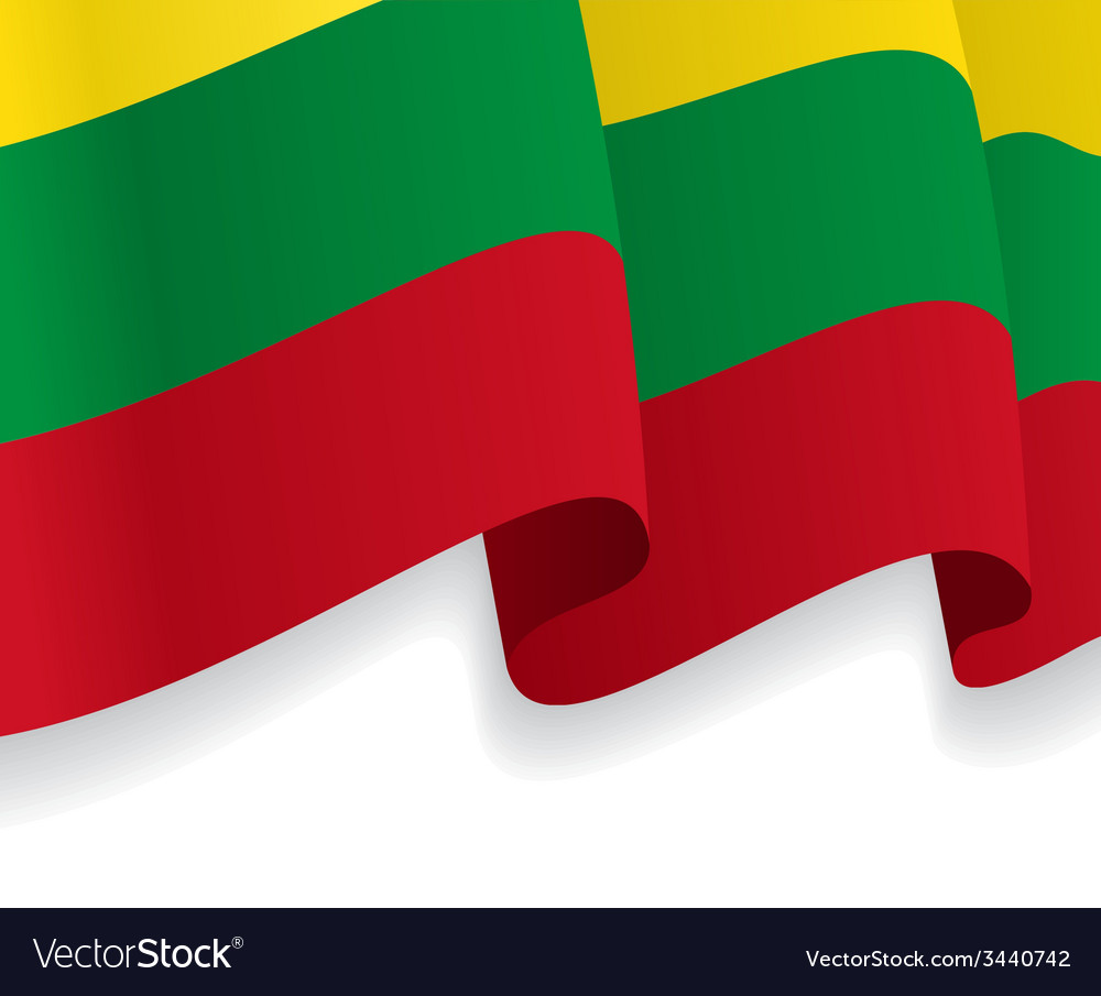 Background with waving lithuanian flag vector | Price: 1 Credit (USD $1)