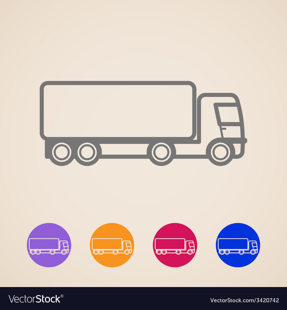 Cargo truck icons vector | Price: 1 Credit (USD $1)