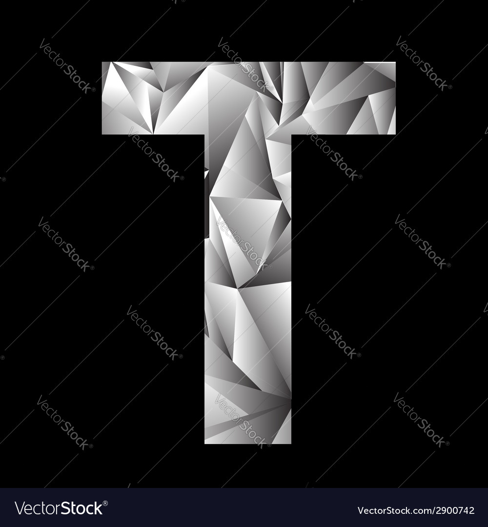 Crystal letter t vector | Price: 1 Credit (USD $1)