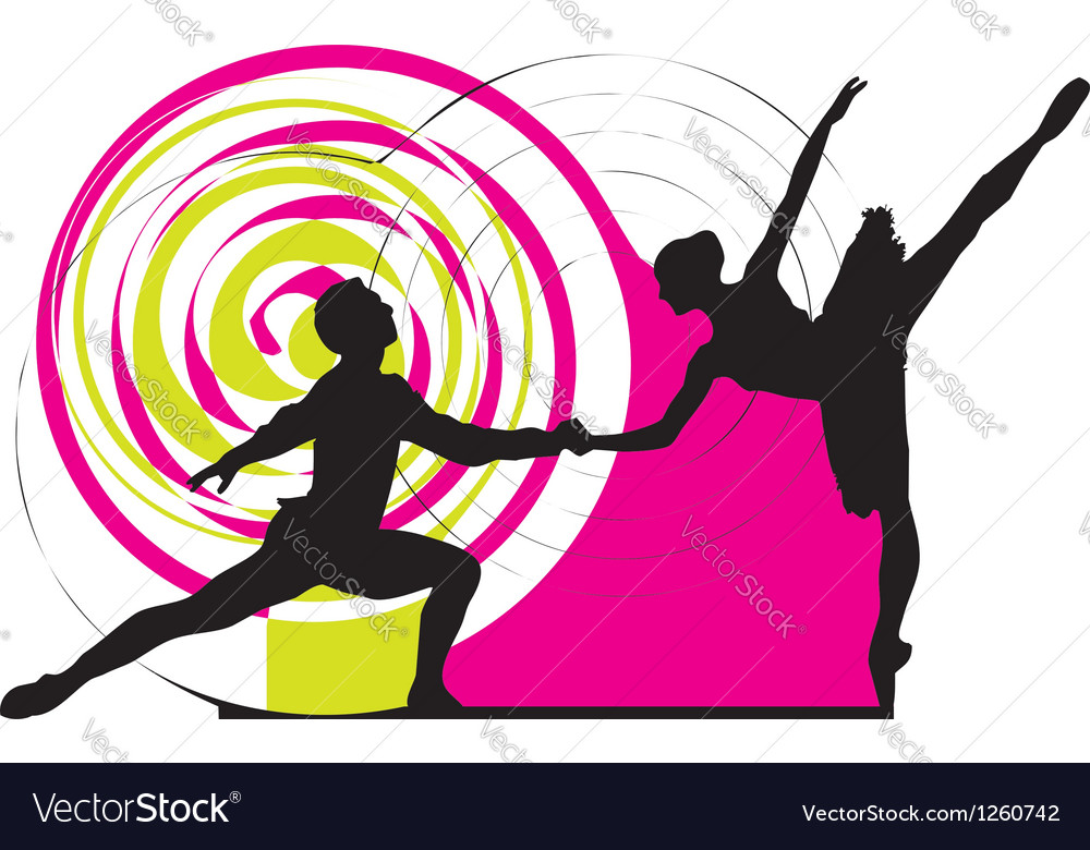 Dancing couple vector | Price: 1 Credit (USD $1)