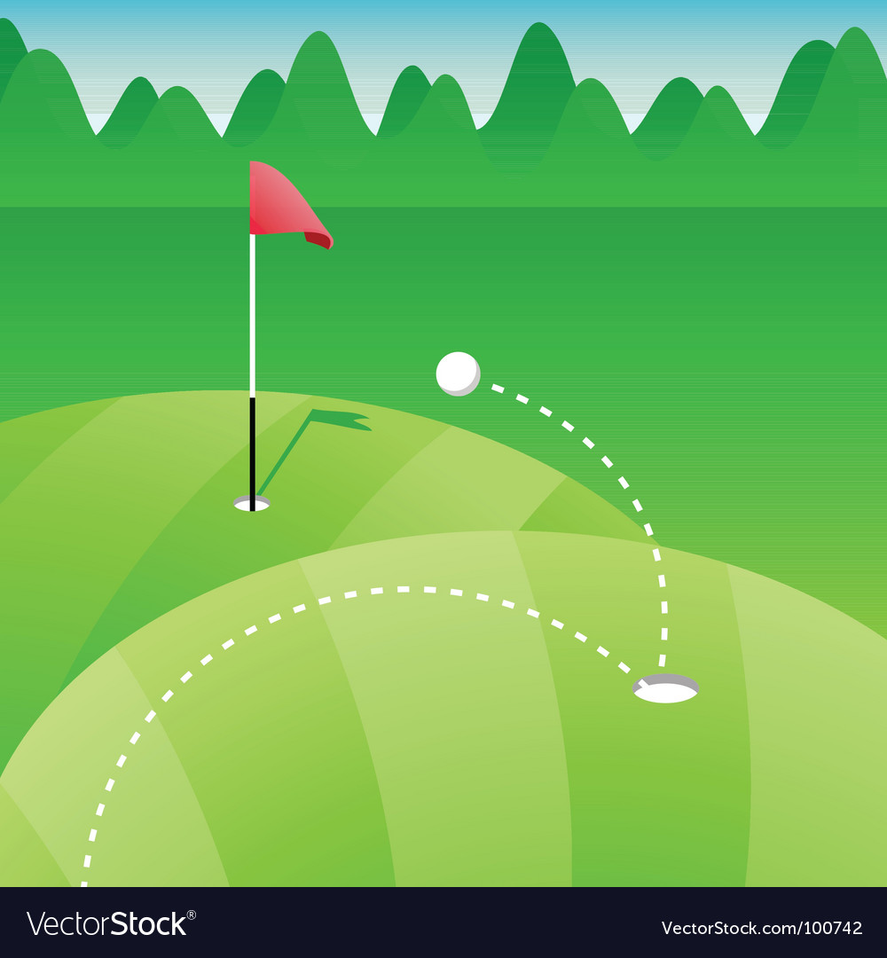 Golf course vector | Price: 1 Credit (USD $1)
