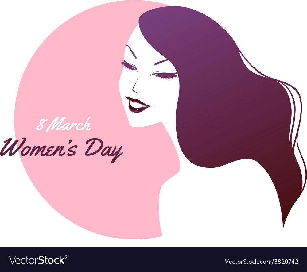 Happy women day pink background vector | Price: 1 Credit (USD $1)
