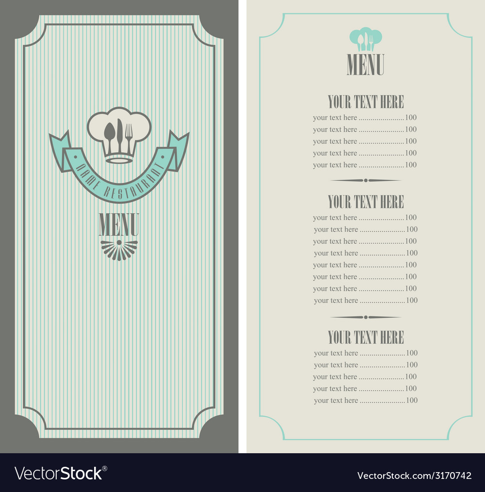 Menu template vector | Price: 1 Credit (USD $1)