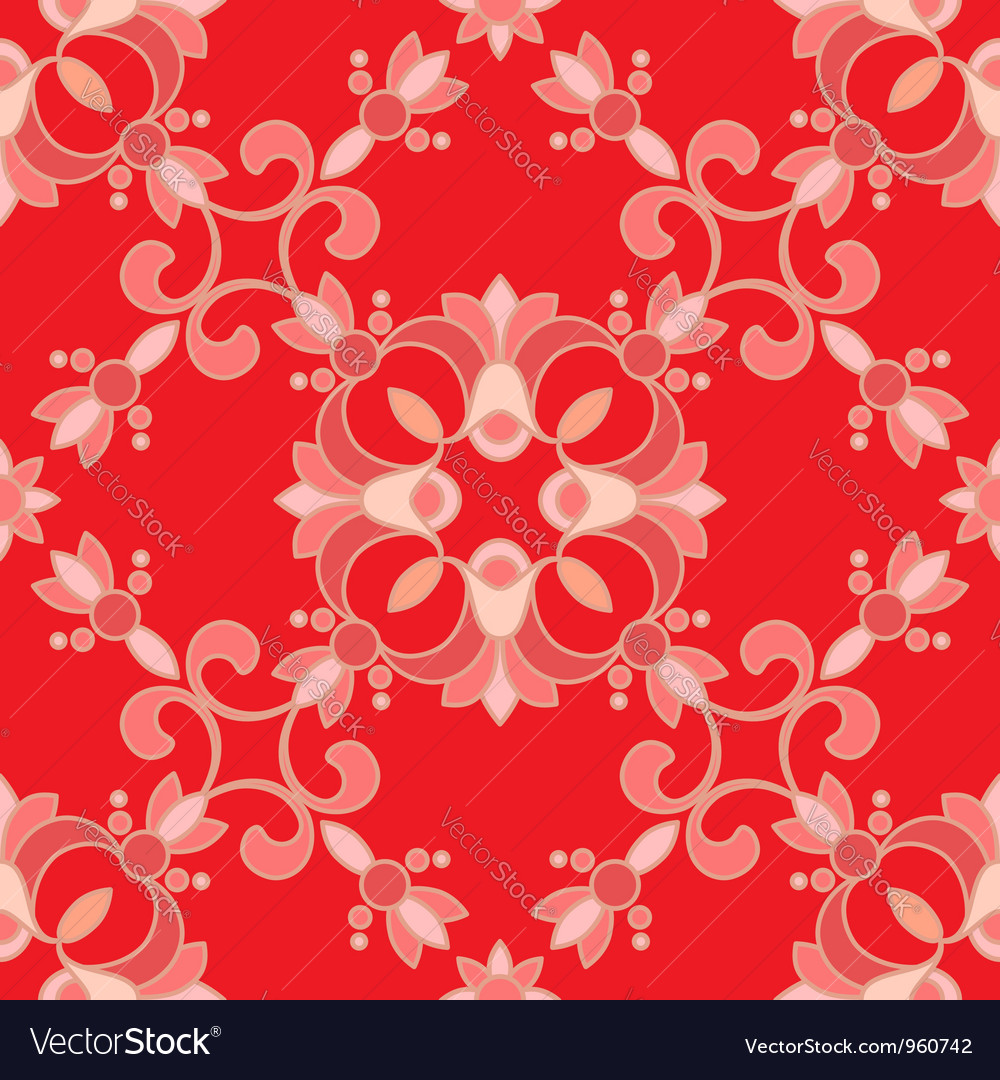 Red ormanent vector | Price: 1 Credit (USD $1)