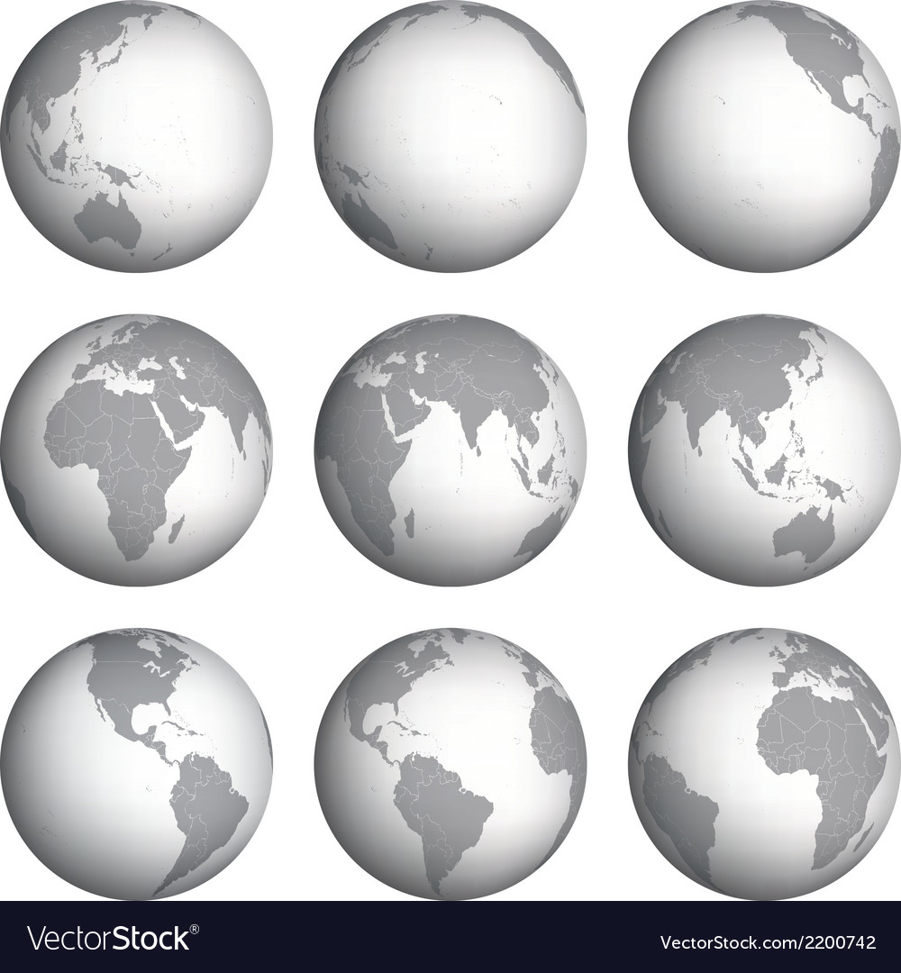 Set of globe icons vector | Price: 1 Credit (USD $1)