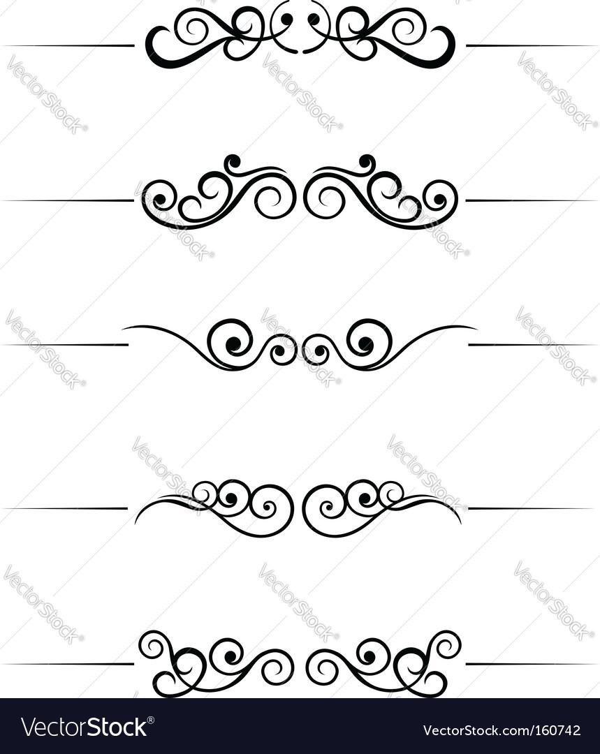Swirl elements vector | Price: 1 Credit (USD $1)