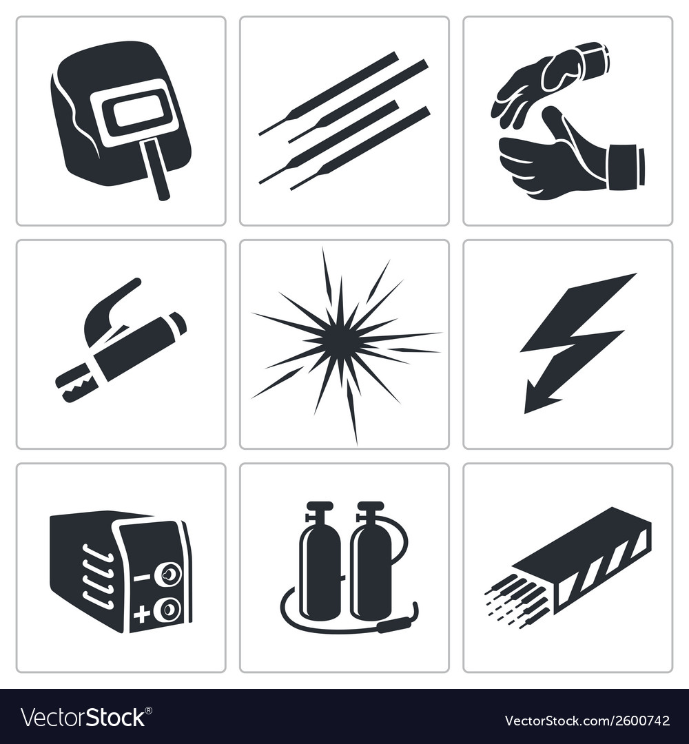 Welding icon collection vector | Price: 1 Credit (USD $1)