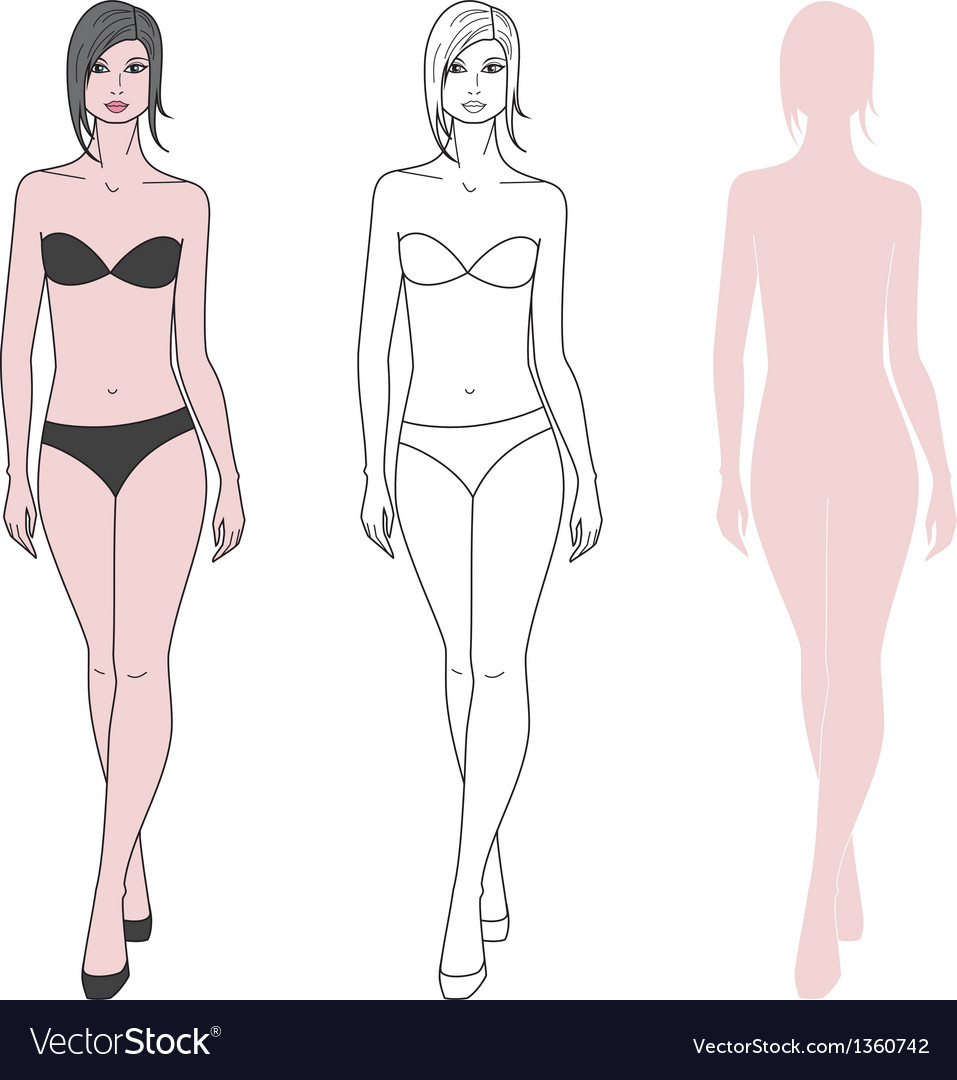 Woman figure vector | Price: 1 Credit (USD $1)