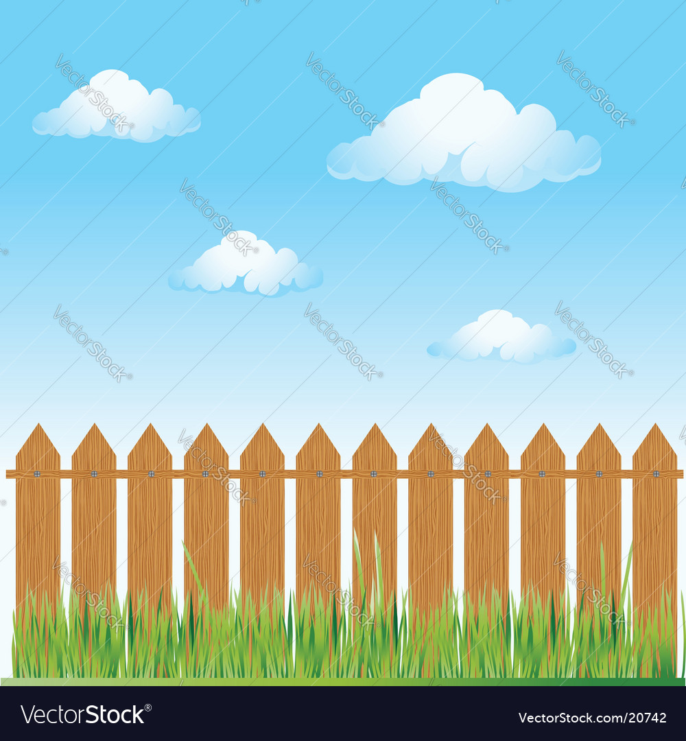 Wooden fence nature vector | Price: 1 Credit (USD $1)