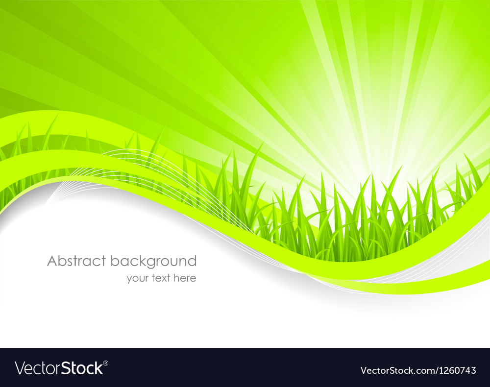 Abstract background with green grass vector | Price: 1 Credit (USD $1)
