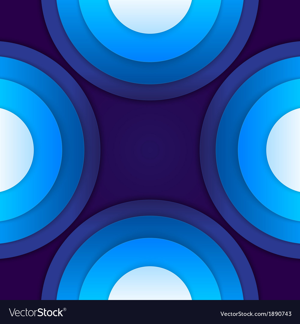 Abstract blue paper circles background vector   Price: 1 Credit (USD $1)