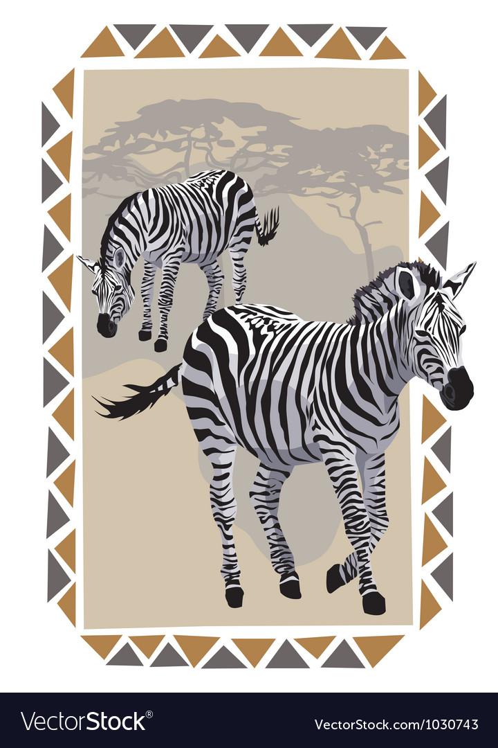 Africa wildlife culture vector | Price: 1 Credit (USD $1)