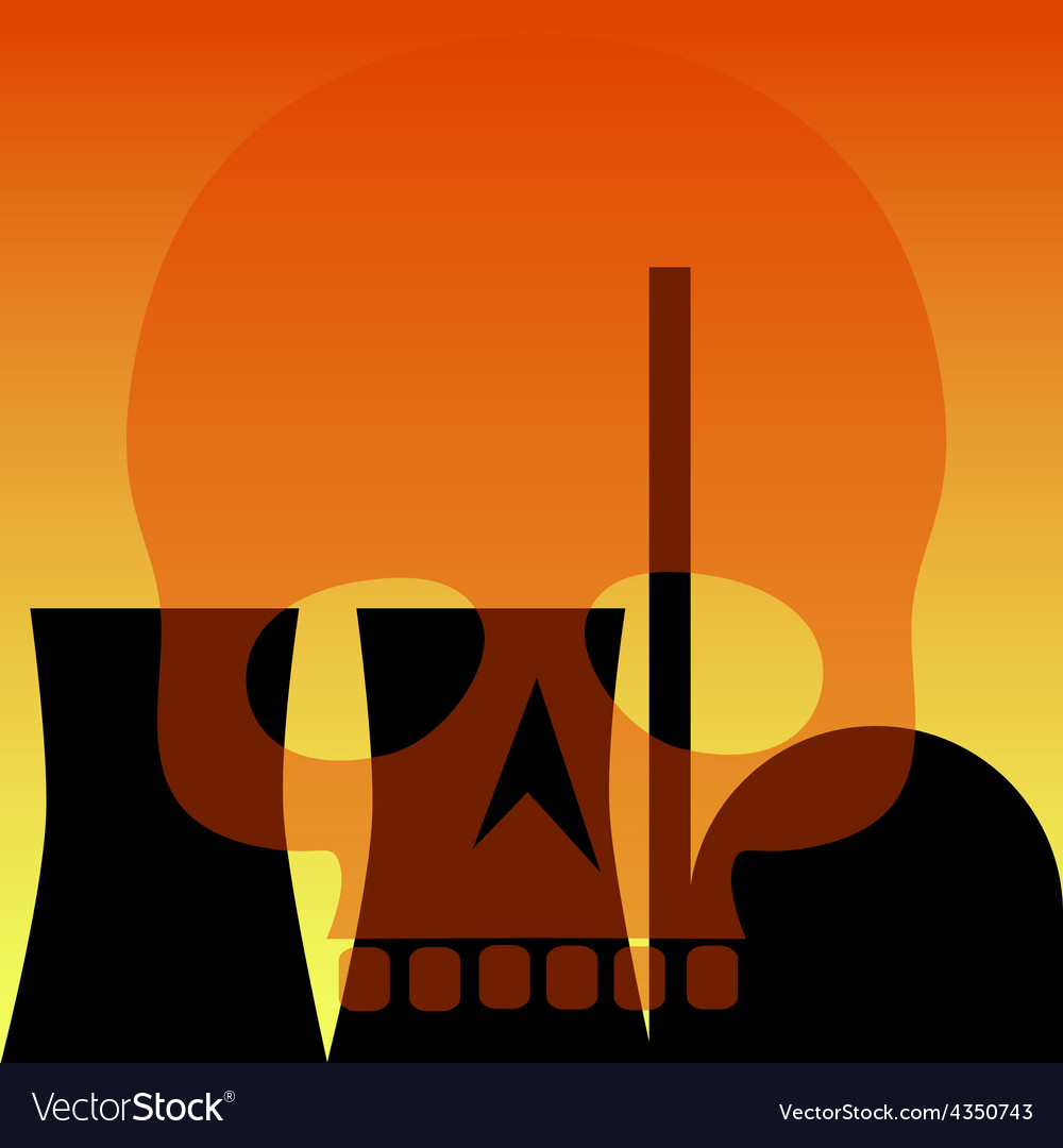 Atomic power station vector | Price: 1 Credit (USD $1)