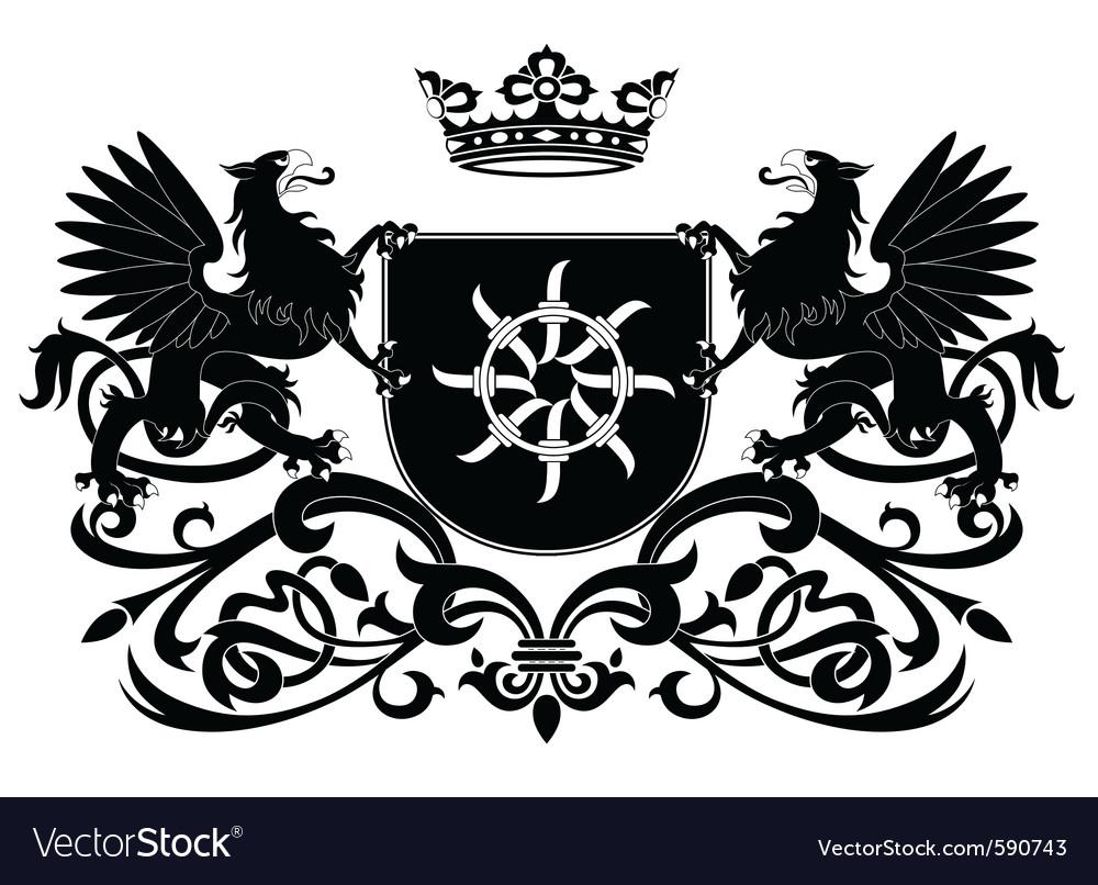 Heraldic griffin vector   Price: 1 Credit (USD $1)