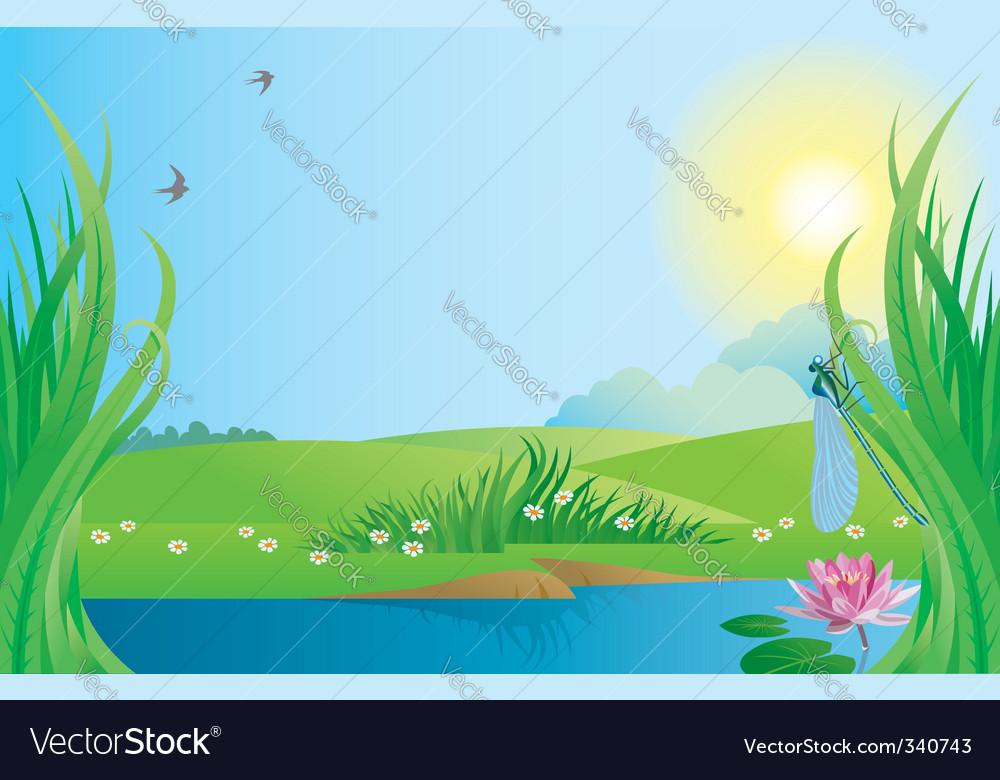 Landscape vector | Price: 1 Credit (USD $1)