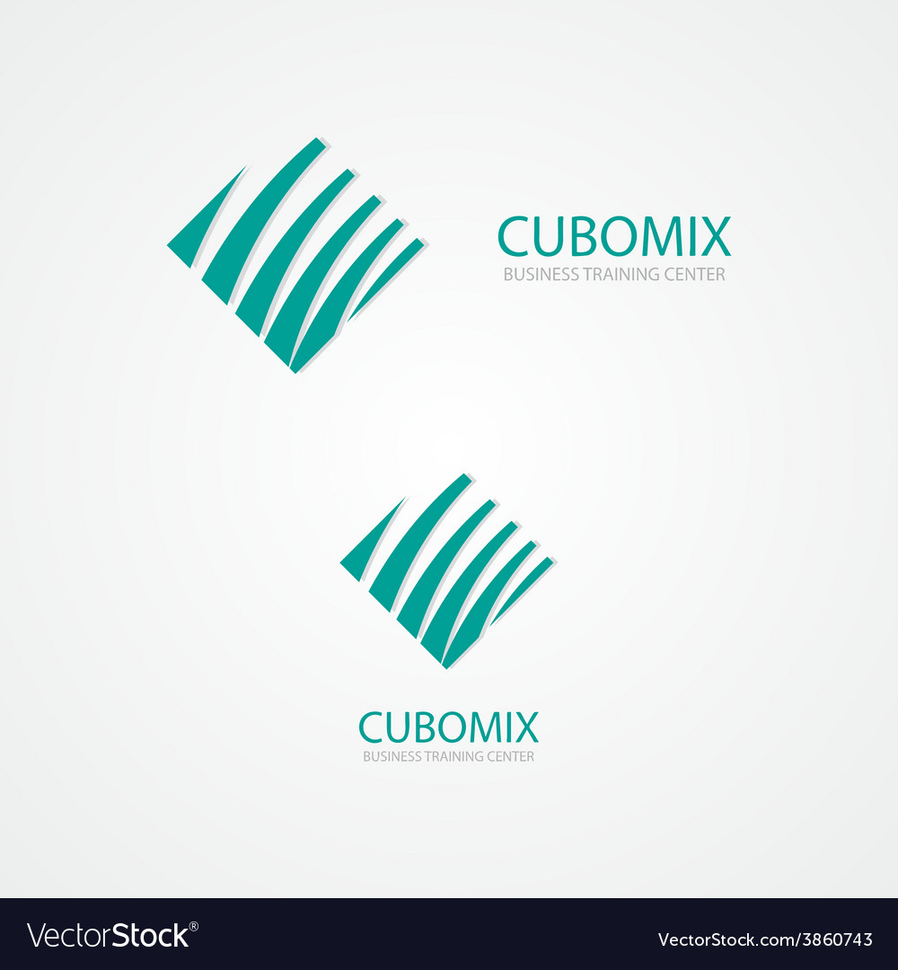 Logo combination of a cube and waves vector | Price: 1 Credit (USD $1)