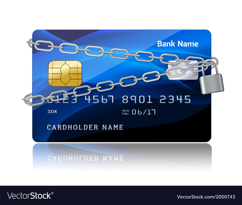 Payment security of credit card with chip vector   Price: 1 Credit (USD $1)
