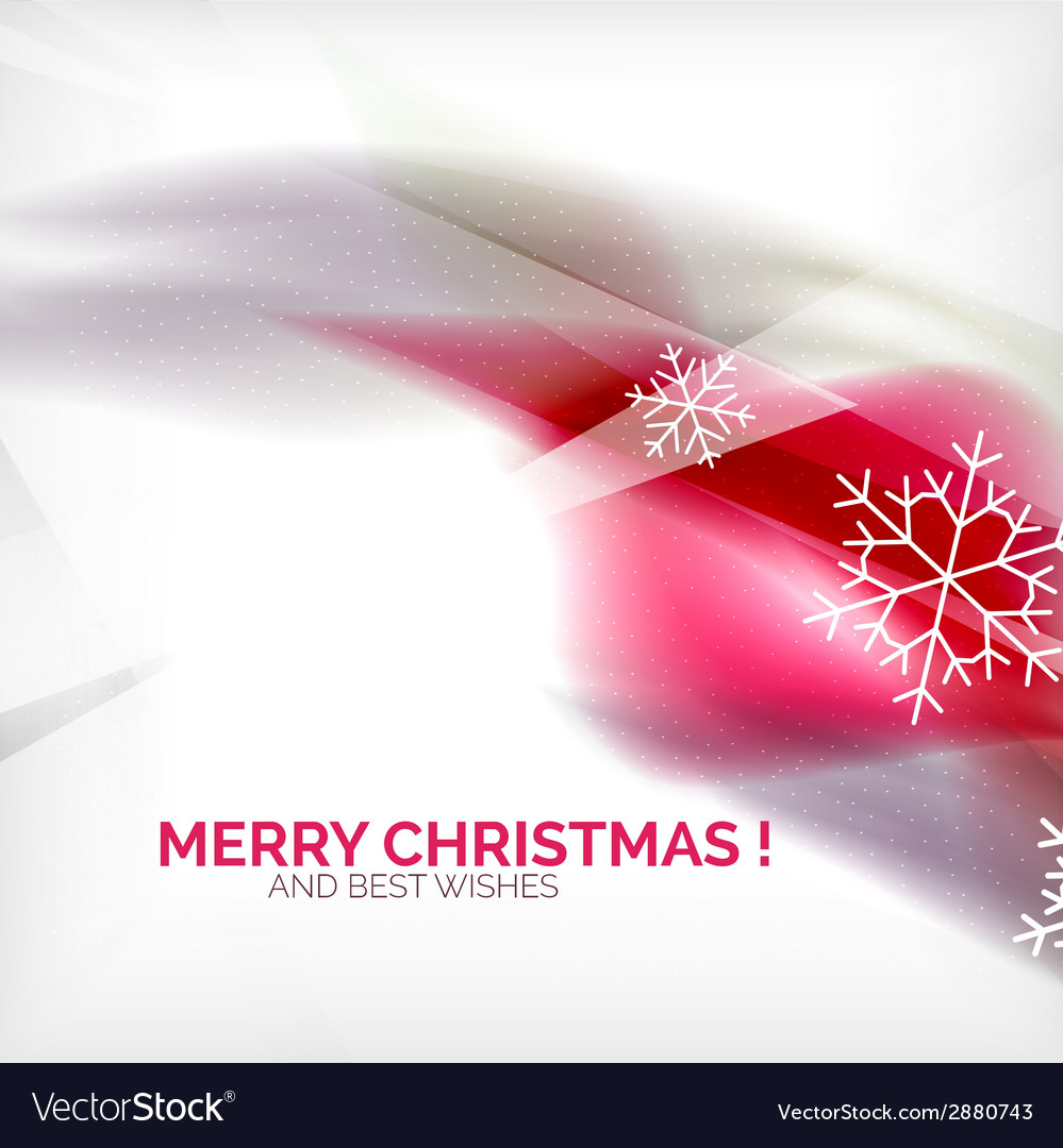 Pink christmas blurred waves and snowflakes vector | Price: 1 Credit (USD $1)