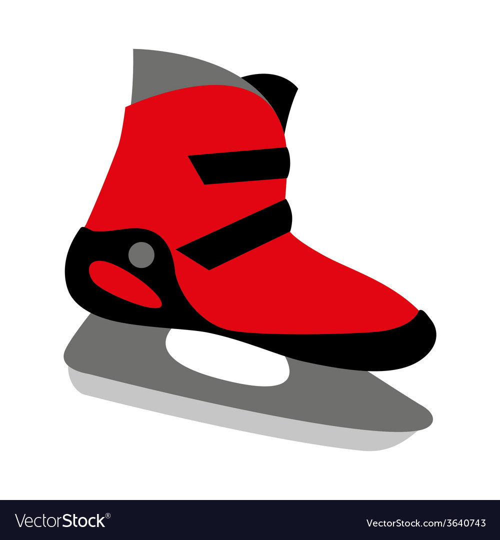 Red ice skates mens vector | Price: 1 Credit (USD $1)