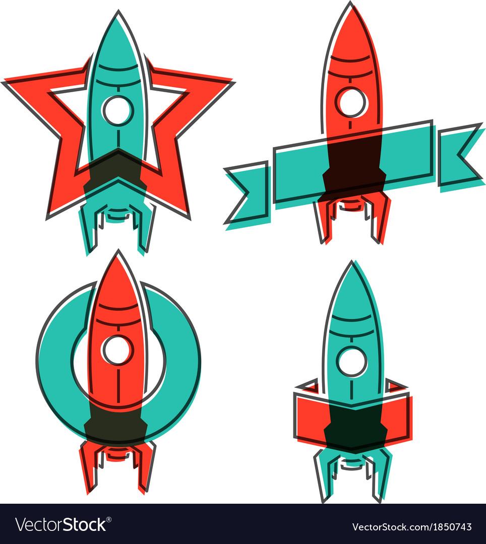 Space rocket symbols vector | Price: 1 Credit (USD $1)