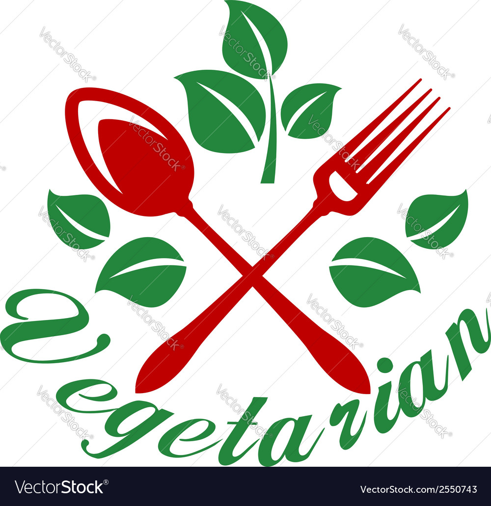 Vegetarian restaurant sign vector | Price: 1 Credit (USD $1)