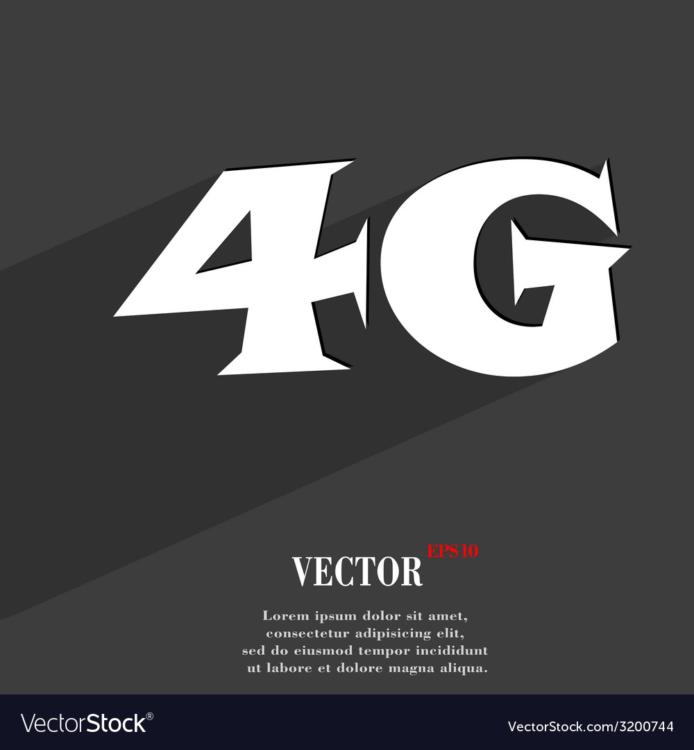 4g icon symbol flat modern web design with long vector | Price: 1 Credit (USD $1)