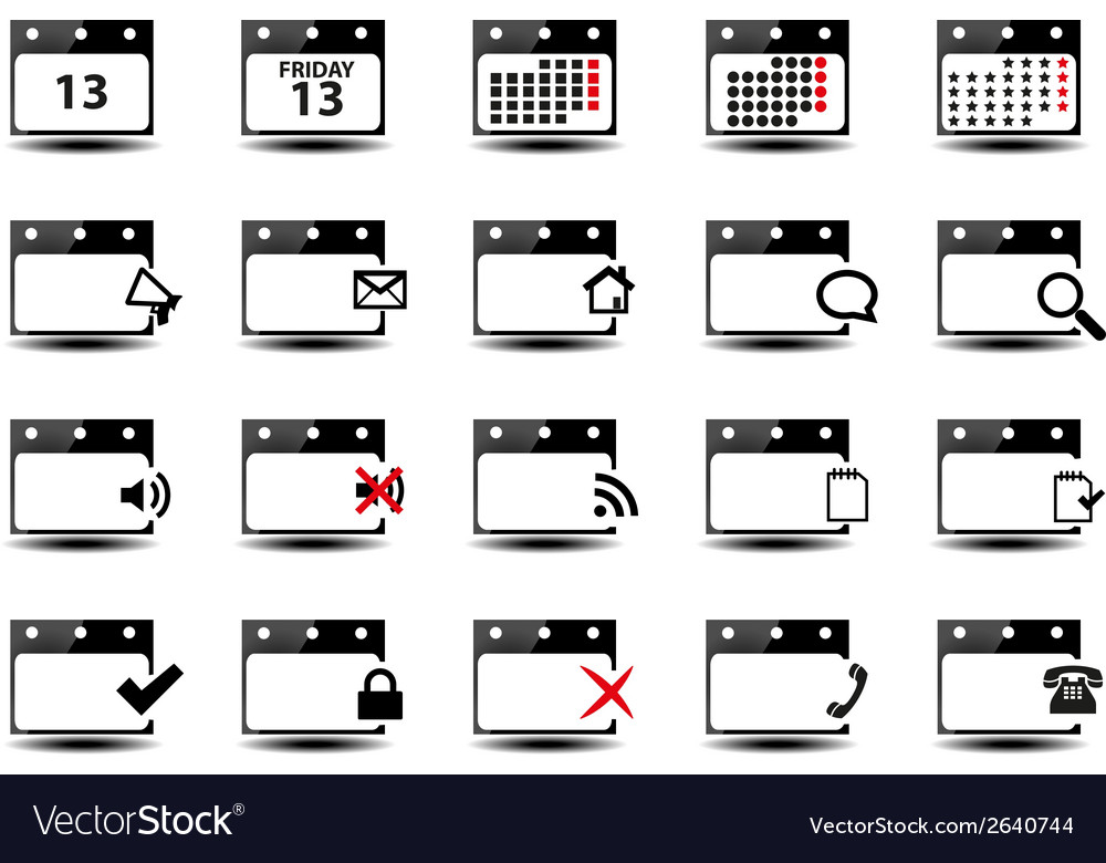 Calendar symbols vector | Price: 1 Credit (USD $1)