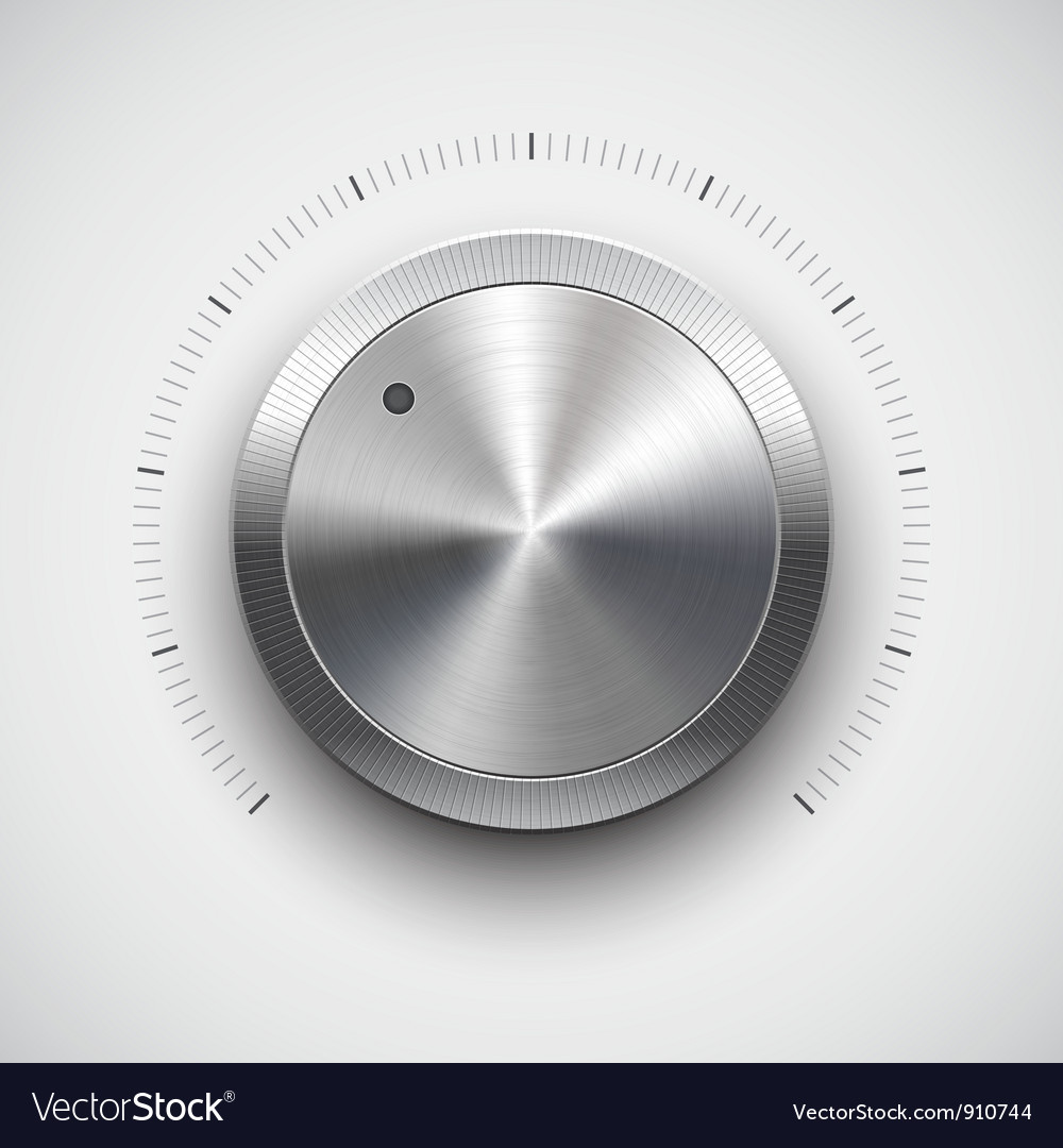Chrome volume dial vector | Price: 1 Credit (USD $1)