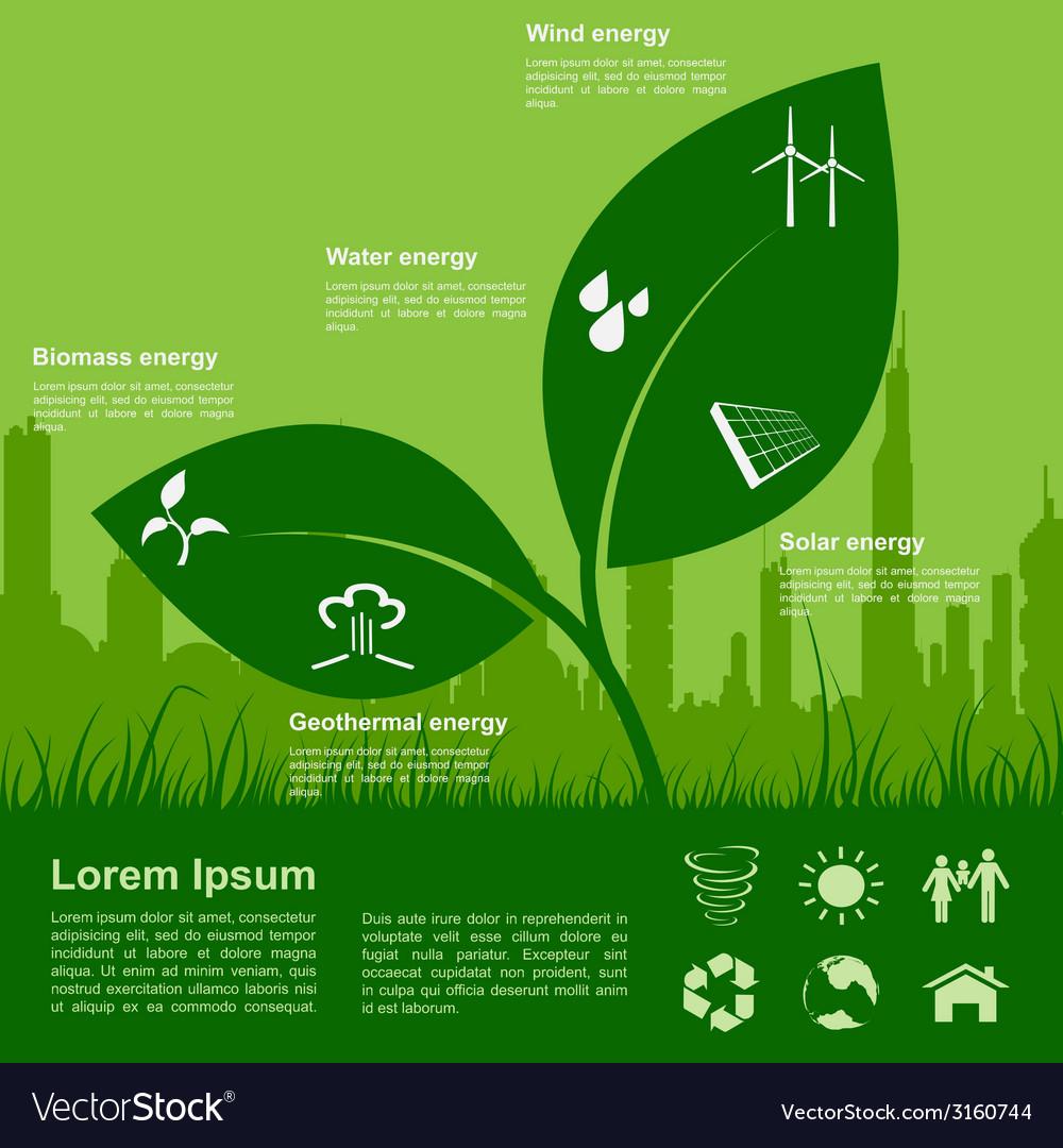 Eco infographic vector   Price: 1 Credit (USD $1)
