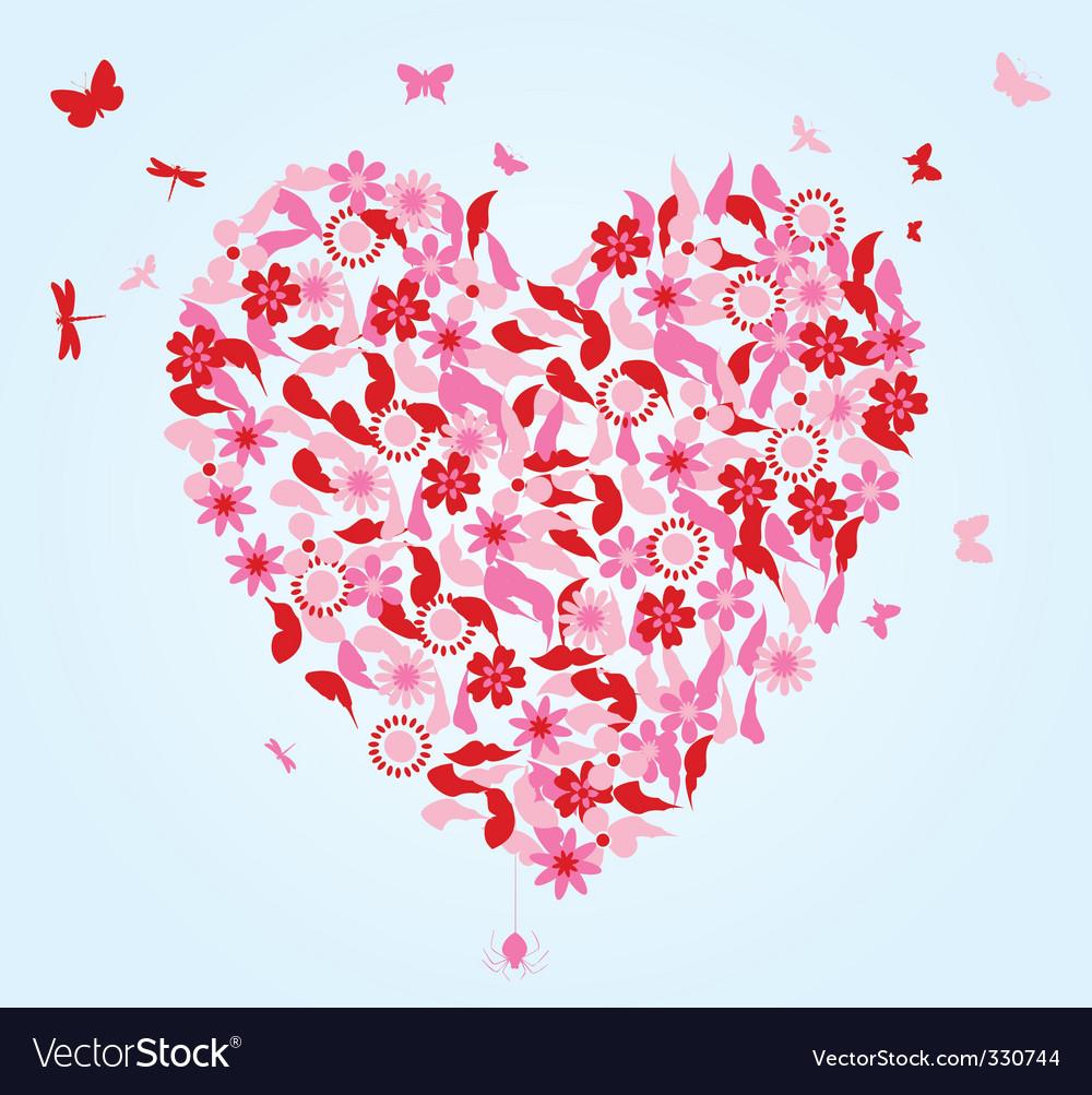 Flower heart vector   Price: 1 Credit (USD $1)