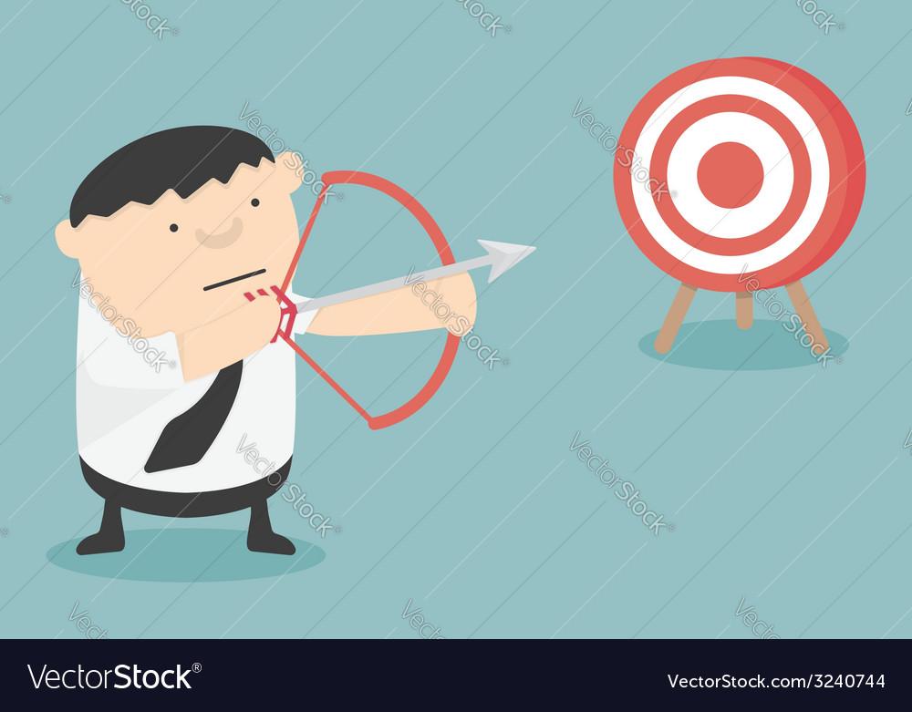 Get target cartoon vector | Price: 1 Credit (USD $1)