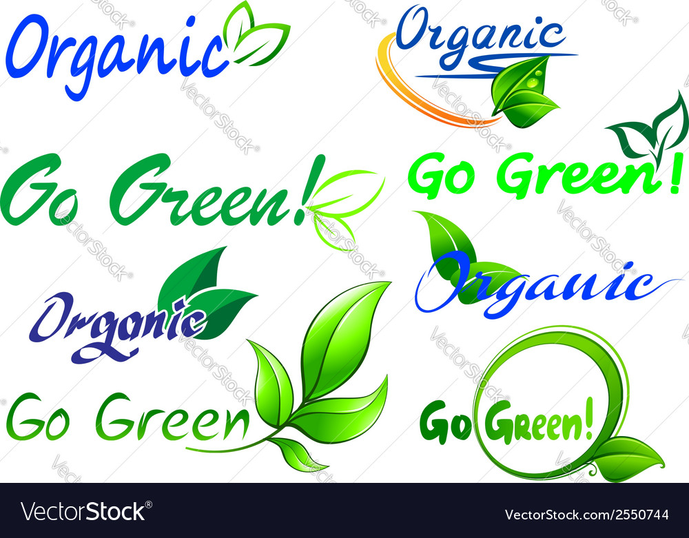 Go green icons and symbols vector | Price: 1 Credit (USD $1)