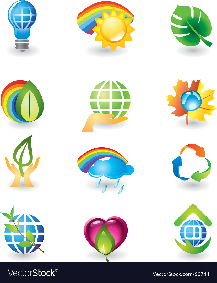 Icons nature vector | Price: 1 Credit (USD $1)