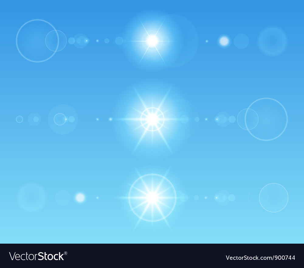 Lens flare set vector | Price: 1 Credit (USD $1)
